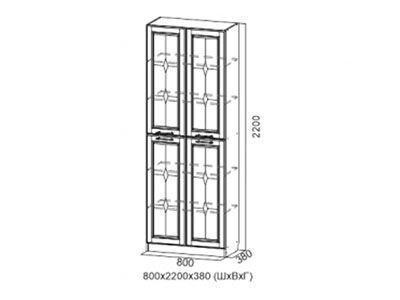 Шкаф для посуды Дуб Сонома/Лиственница светлая - Коллекция Прованс 1