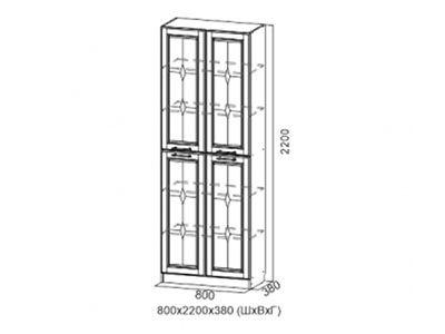 Шкаф для посуды Дуб Сонома/Мускат структурный - Коллекция Прованс 1
