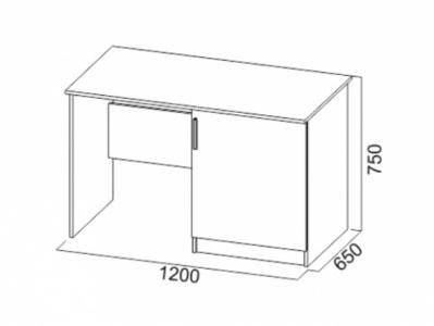 Стол с тумбой под холодильник Дуб Венге/ Дуб Млечный - Эдем 5
