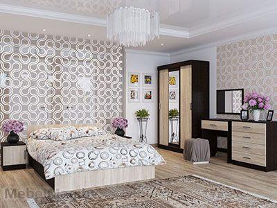 Спальня Эдем 5 - Венге/Сонома набор 3
