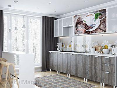 Кухня Фрукты - Кофе (без глянца) с допмодулями