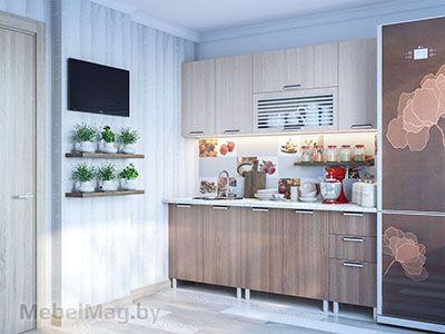Кухня Карамель 2м. Ясень Шимо - набор 1