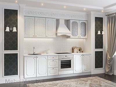 Кухня Классика Сосна - Белая (2,6м) 720