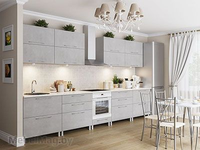 Кухня Лофт - Бетон серый