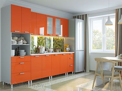 Кухня Модерн - Оранж с П600я (2,6м)