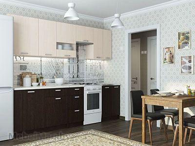 Кухня Розалия - Дуб венге/Дуб млечный (1,7м)