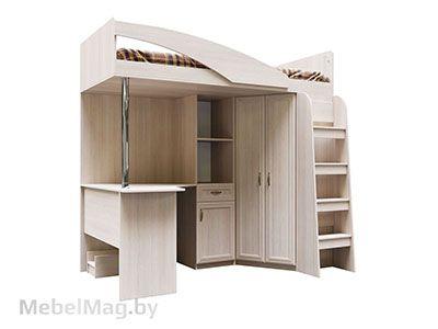 Кровать двухъяр. ДМ-15 комб. без матраца 0,9x2,0 Сосна Карелия -  Вега