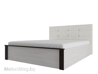 Кровать двойная унив-ая с мягк.изгол. 1,4x2 Ясень/Венге - Гамма 20