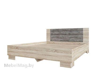 Кровать двойная 1,6x2,0 Дуб Сонома/Сосна Джексон - Коллекция Лагуна 2