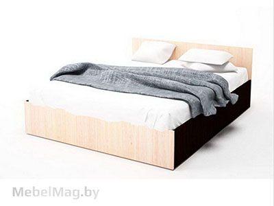 Кровать одинарная 0,9x2,0 Дуб Венге/ Дуб Млечный - Коллекция Эдем 5
