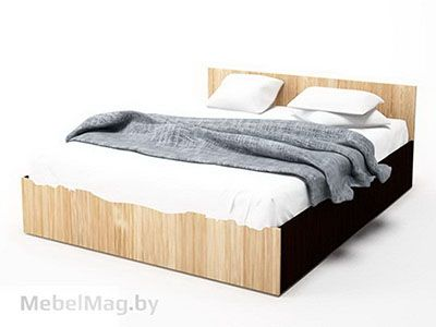 Кровать одинарная 0,9x2,0 Дуб Венге/ Сонома - Коллекция Эдем 5