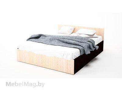 Кровать двойная 1,6x2,0 Дуб Венге/ Дуб Млечный - Коллекция Эдем 5