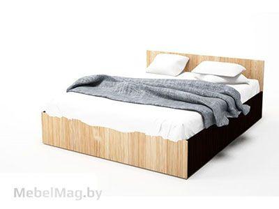 Кровать двойная 1,6x2,0 Дуб Венге/ Сонома - Коллекция Эдем 5