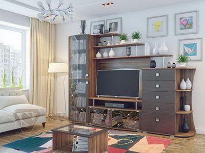 Набор мебели для гостиной Нота 16  Слива Валлис/ Дуб Венге