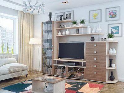 Набор мебели для гостиной Нота 16 Ясень Шимо св./Ясень Шимо тм.