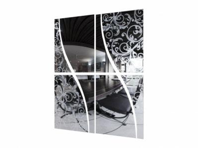 Шкаф-купе №19 1,5 Зеркало Волна