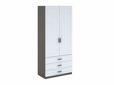Шкаф 2-х створчатый бельевой с ящиками ШК-905 Белое дерево - Прага