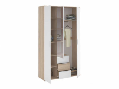 Шкаф 3-х створчатый с ящиками ШК-823 Дуб сонома - Коллекция Терра