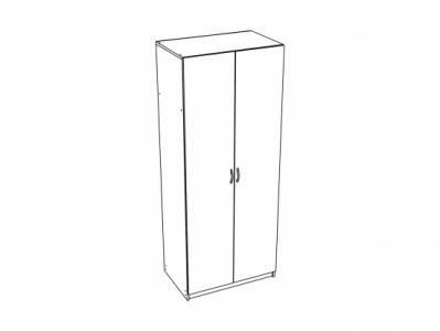 Шкаф 2-х створчатый универсальный ШК-912 Дуб белёный - Спальня Эльза