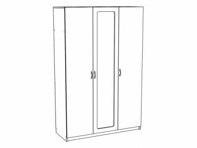 Шкаф 3-х створчатый ШК-913 Дуб белёный - Спальня Эльза