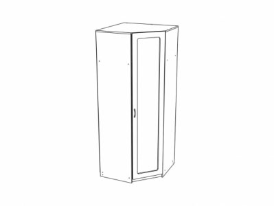 Шкаф угловой ШК-916 Дуб белёный - Спальня Эльза