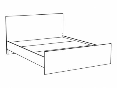 Кровать КР-910 Перламутр глянец - Спальня Эльза
