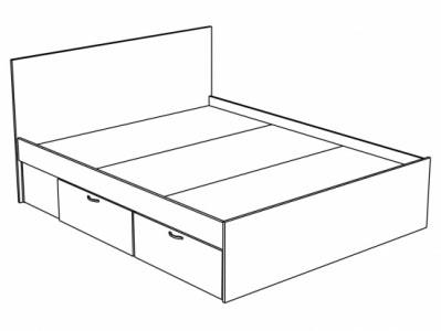 Кровать с ящиками КР-912 Перламутр глянец - Спальня Эльза