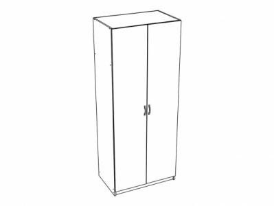 Шкаф 2-х створчатый платяной ШК-552 Ясень шимо св. - Спальня Бася