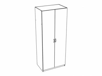 Шкаф 2-х створчатый с перегородкой ШК-553 Ясень шимо - Спальня Бася