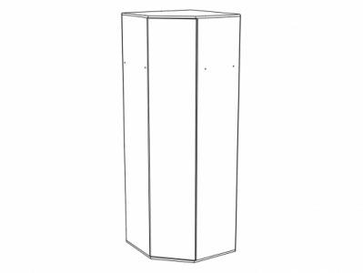 Шкаф угловой ШК-824 Белый - Коллекция Терра
