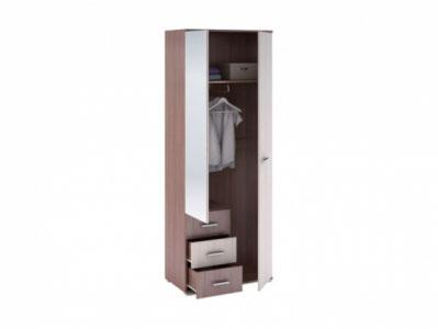 Шкаф с ящиками 2-х створчатый ШК-802 Ясень шимо св./шимо тм. - Рошель