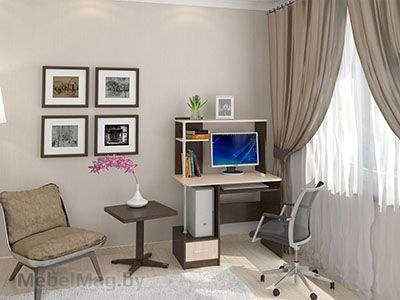 Стол компьютерный №2 Дуб Венге/Дуб Млечный