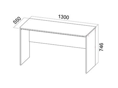 Стол компьютерный №7 Стол Дуб Венге/Дуб Млечный