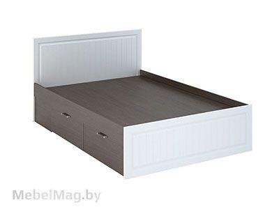 Кровать с ящиками КР-902 Белое дерево/Венге - Спальня Прага