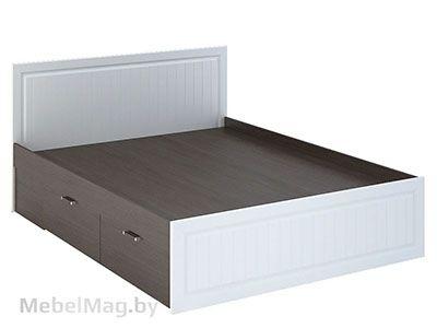 Кровать с ящиками КР-903 Белое дерево/Венге - Спальня Прага