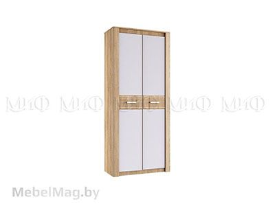Шкаф 2-х створчатый с белыми фасадами - Терра