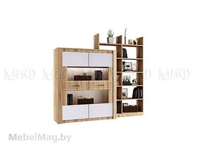 Шкаф для посуды с белыми фасадами - Терра