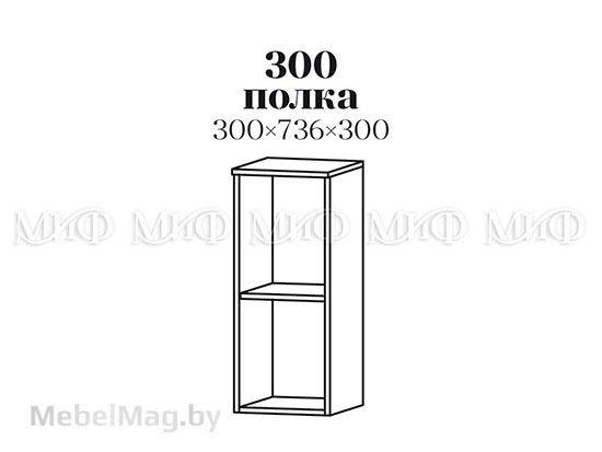 Полка 300 - Кухня Фортуна фотопечать Клубника