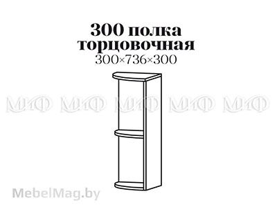 Полка 300 торцовочная - Кухня Апельсин