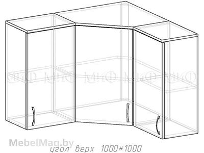 Угол верх 1000х1000 - Кухня Сакура