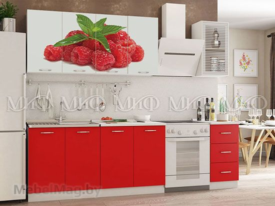 Кухня Фортуна (красная) вид 9