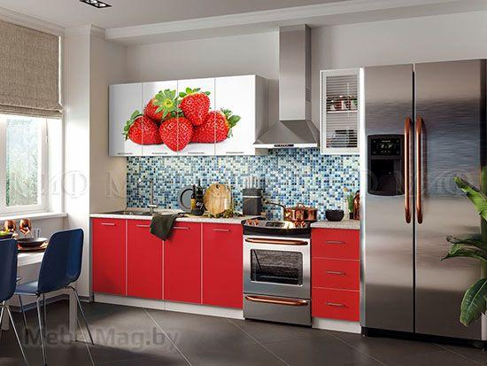 Кухня Фортуна фотопечать Клубника вид 16