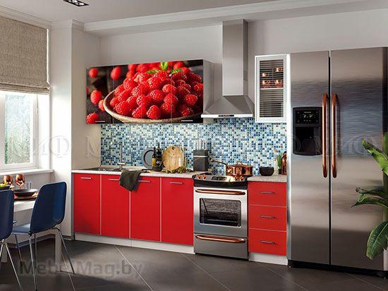 Кухня Фортуна фотопечать Красная вид 2