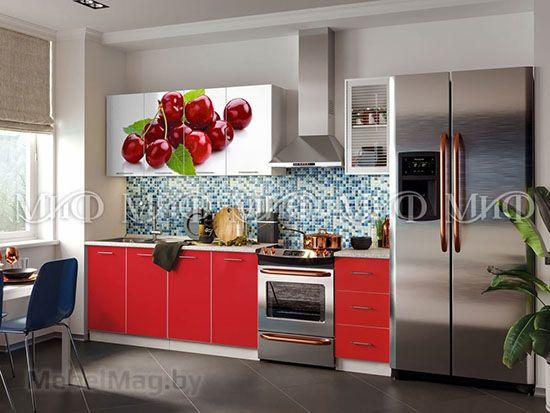 Кухня Фортуна (красная) вид 10