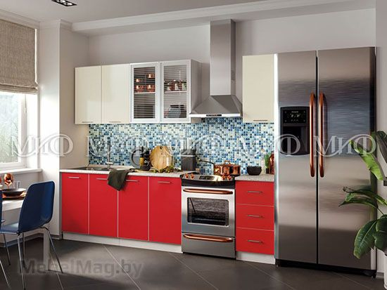 Кухня Фортуна (красная) вид 11
