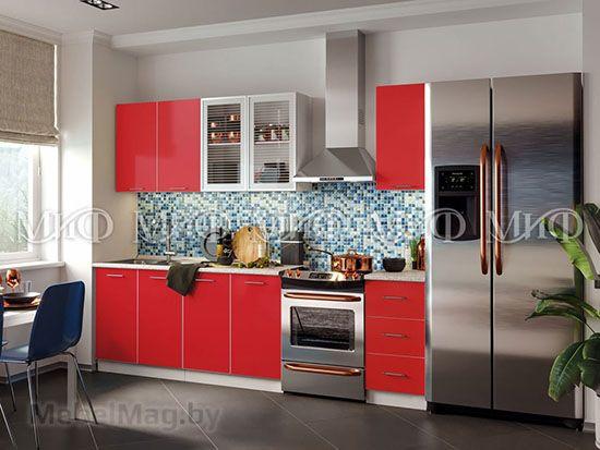 Кухня Фортуна (красная) вид 13