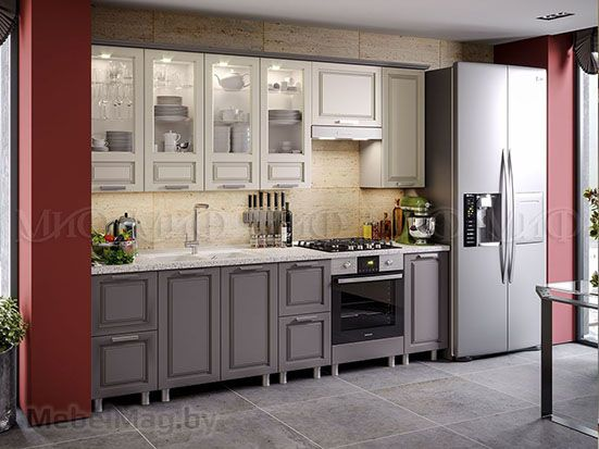 Кухня Констанция (графит) вид 4