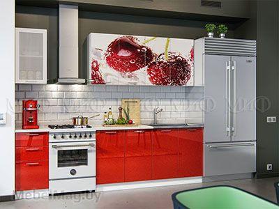 Кухня Техно (красный) вид 16