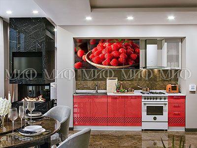 Кухня Техно (красный) вид 9