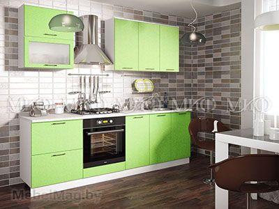 Кухня Техно (салатовый) вид 49
